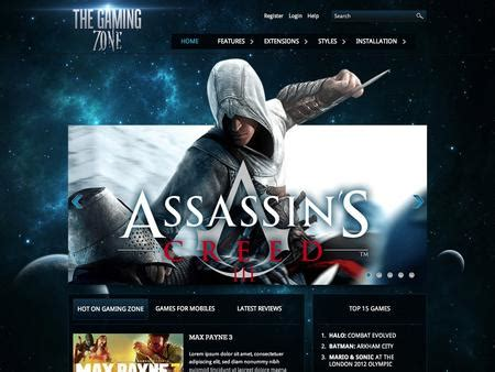 themes in the hot zone th 232 me responsive joomla hot gaming zone