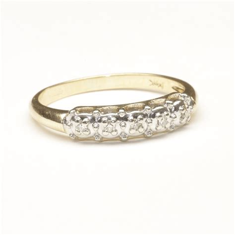 Wedding Ring Small by Wedding Ring With Five Small Diamonds C 1965 From