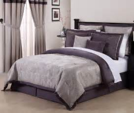 purple and grey comforter sets 8pcs debois purple embroidered comforter set