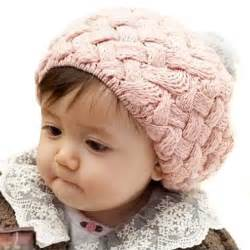 Baby infant boy girl knit beanie crochet rib pom pom hat cap warm