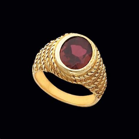 nautical design gemstone ring