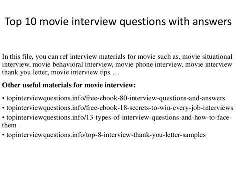 film quiz slideshare top 10 movie interview questions with answers