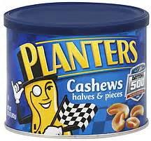 Planters Cashews Nutrition by Planters Cashews Halves Pieces 9 25 Oz Nutrition