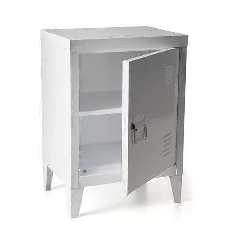 White Metal Locker Storage Cabinet Removable Shelves Gym