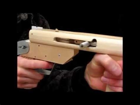 How To Make A Paper Smg - rubber band gun blowback submachine gun