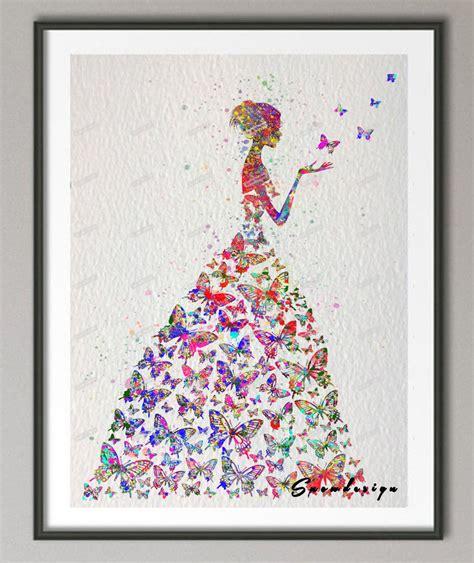 wall art designs living room wall art butterfly silver original watercolor butterfly girl wall art canvas