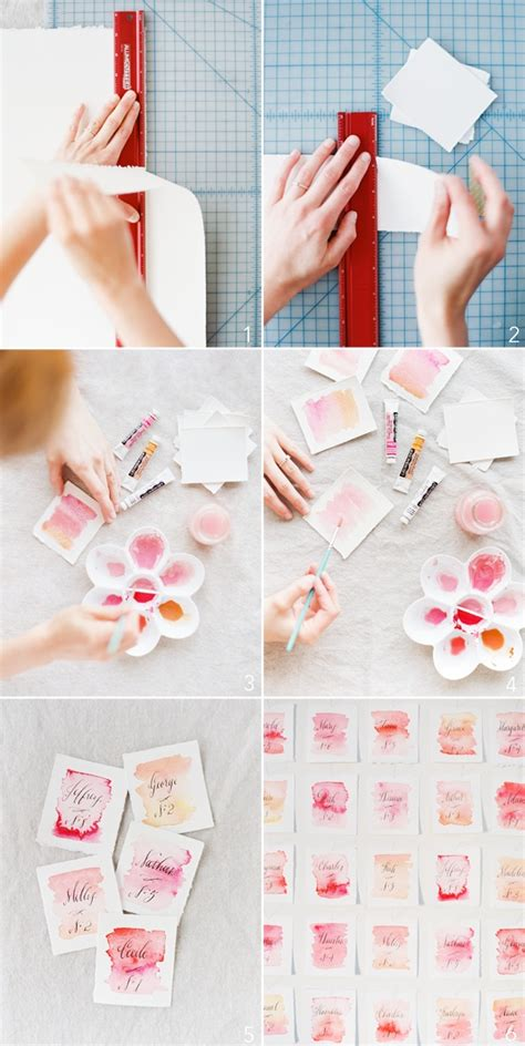 watercolour cards diy diy watercolor place cards boston wedding planner the details
