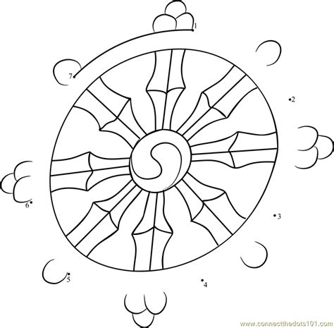 Buddhist Wheel Of Template dharma wheel dot to dot printable worksheet