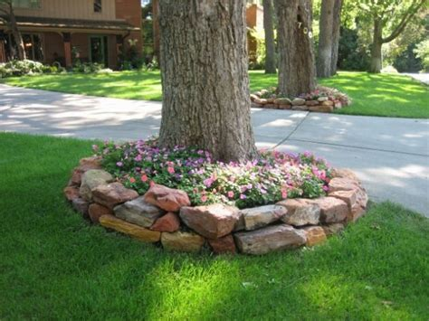 landscape around trees 15 beautiful ideas for decorating the landscape around the trees