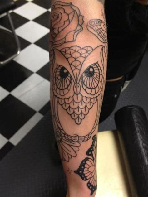 quarter sleeve owl tattoo 108 best images about sleeve tattoos for women on pinterest