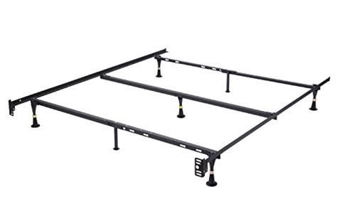 Bed Frame Middle Support Bar Khome Duty 7 Leg Adjustable Metal Bed Frame Xl Xl With