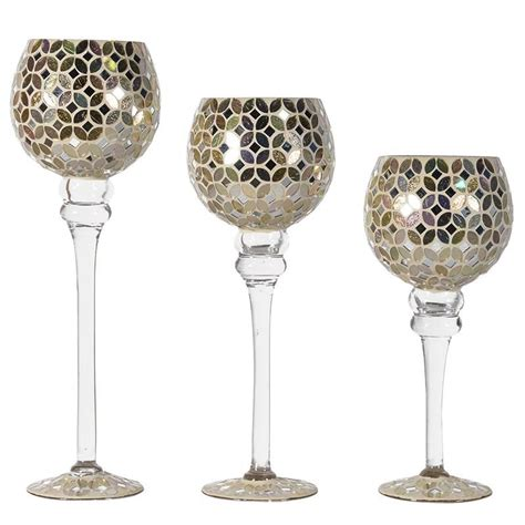 Candle Holders Set Of 3 by Contemporary Set Of 3 Mosaic Candle Holders Mulberry Moon