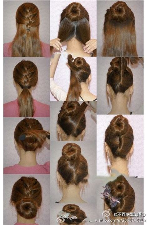 put your hair in a bun with braids 12 best images about hair ideas on pinterest copper