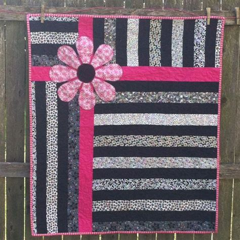black and white baby quilt pattern black and white with pink baby quilt quilts pinterest