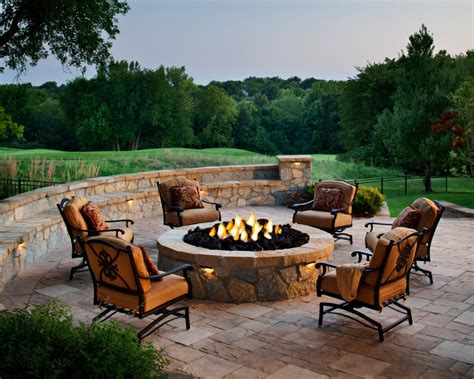 backyard patio furniture designing a patio around a fire pit diy