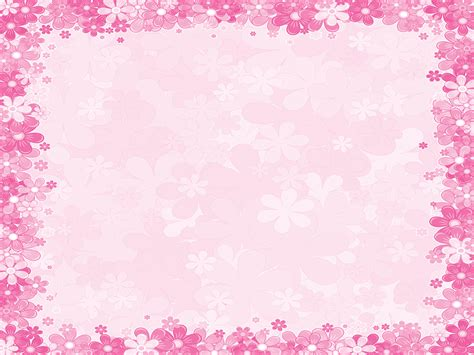 background templates pink floral borders pink floral frames ppt backgrounds