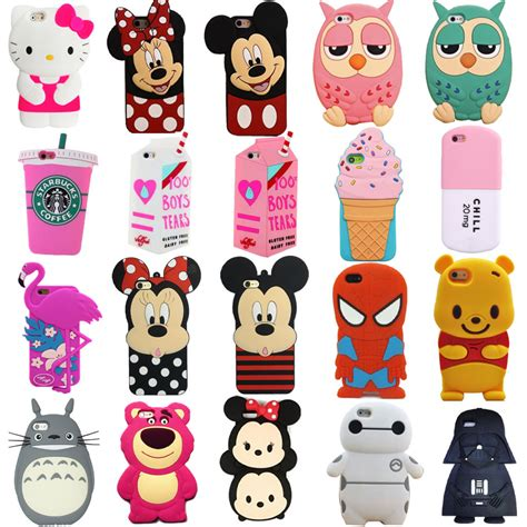 Iphone5 3d Kisd 3d silicone soft skin for iphone 4 5s se 6g 6 plus ebay