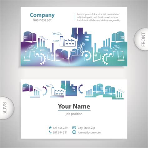 card template with front and back business card template word front and back image