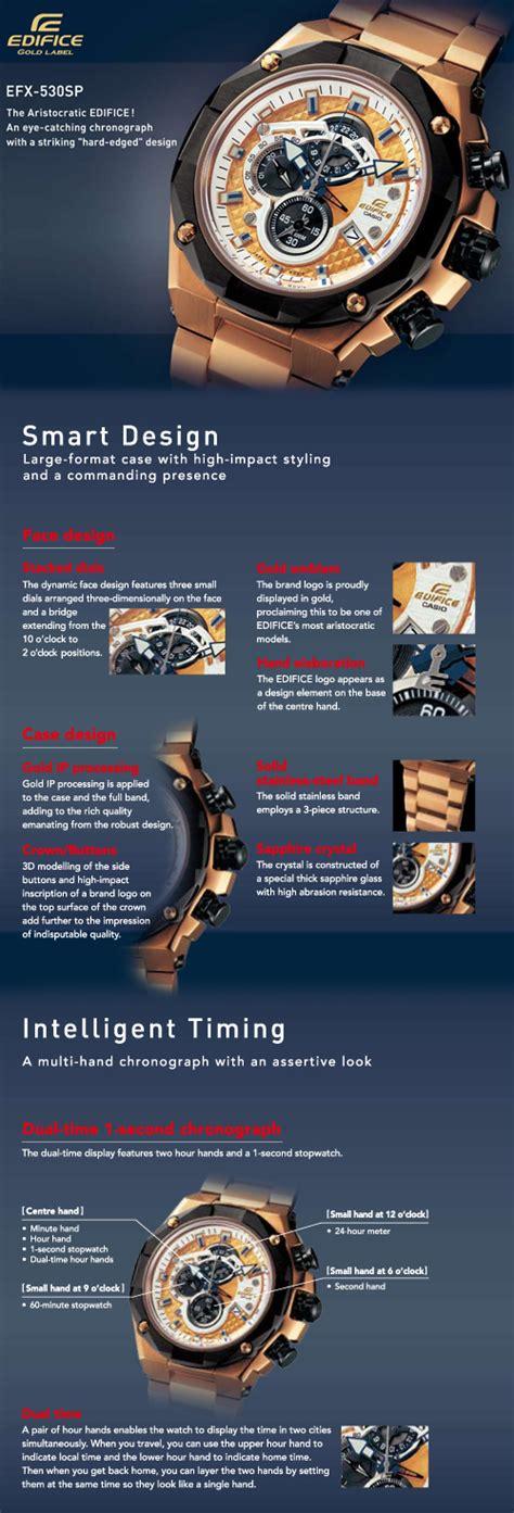 Casio Edifice Ef 523 Sp edifice edifice gold label series