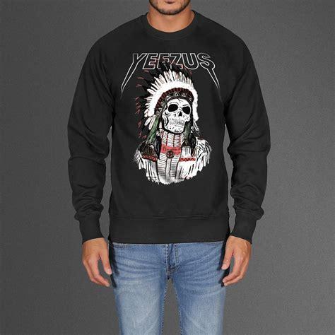 Hoodie Indian indian skeleton yeezus tour sweatshirt
