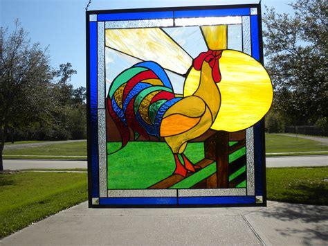 stained glass rooster l stained glass rooster allie kay s glass more