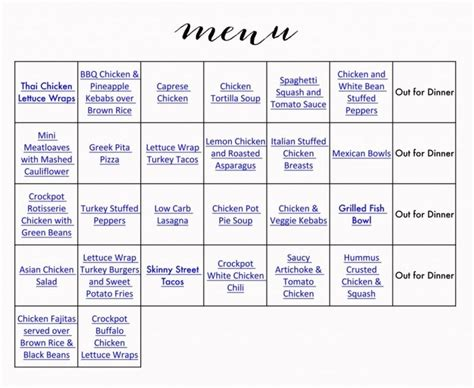 printable healthy eating plan 99 best meal planning images on pinterest menu planning