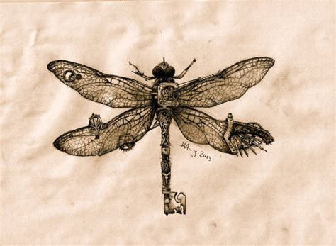 steampunk dragonfly key by agentcoleslaw on deviantart