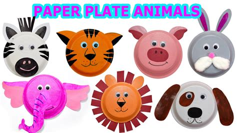 How To Make Animal Mask With Paper Plate - how to create animals using paper plates craft