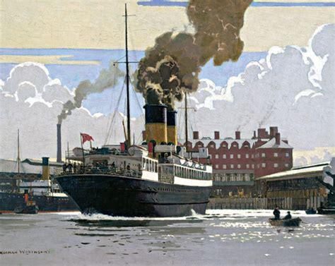 barco de vapor y ferrocarril trabajo historia