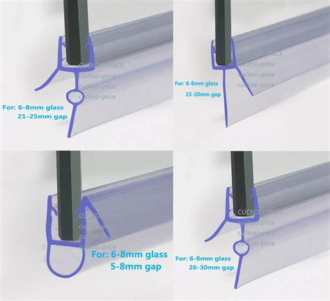 Bath Shower Screen Rubber Plastic Seal For 6 8mm Glass Shower Seals For Curved Glass Doors