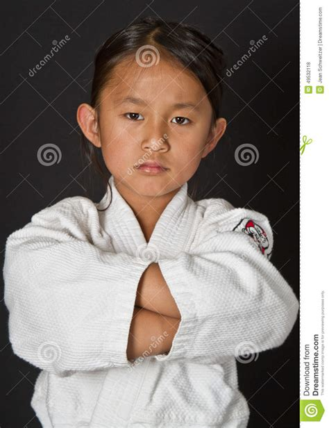karate kid chinese girl karate kid stock photo image 49532118