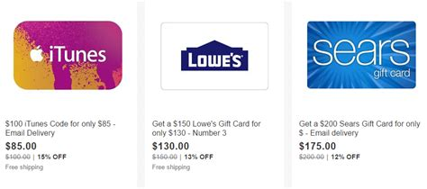 Earn Ebay Gift Card - ebay gift card roundup deals on itunes lowe s sears more frequent miler