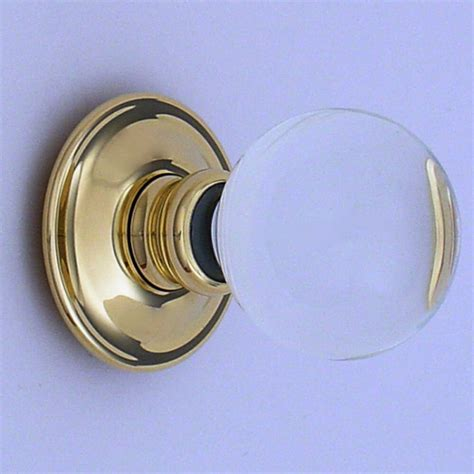 Handmade Glass Door Knobs - clear balloon handmade glass door knobs the period