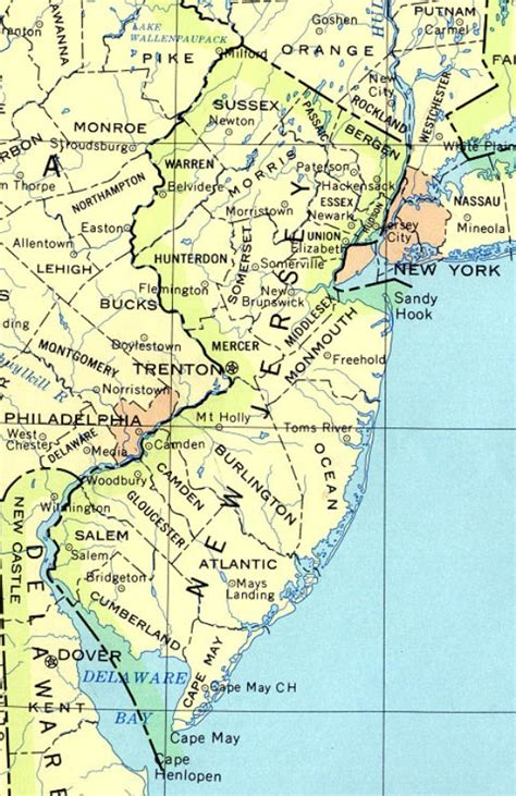 printable road map of new jersey new jersey base map