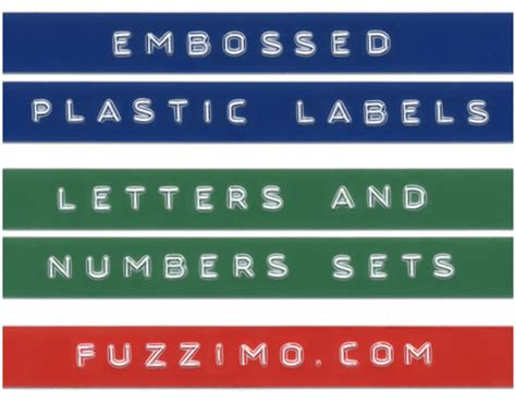 free hi res embossed label letters numbers fuzzimo