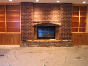 hideous brick fireplace home