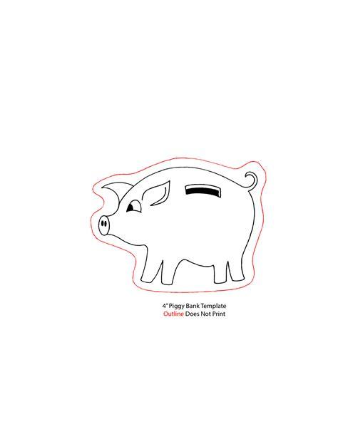 Piggy Bank Ears Template