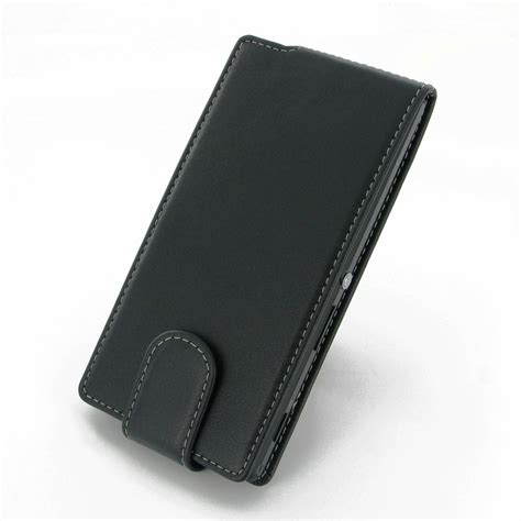 Sony Xperia M2 Premium Leather Flip Stand Casing Cover sony xperia m2 leather flip carry pdair sleeve pouch holster