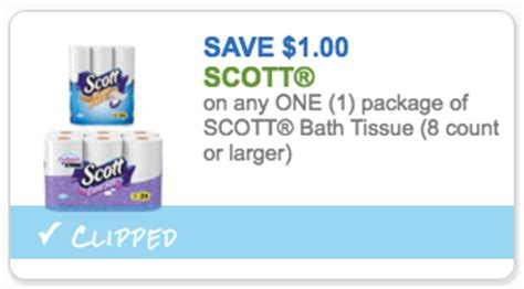 scott bathroom tissue coupon hot 0 33 per roll scott toilet paper at walgreens week