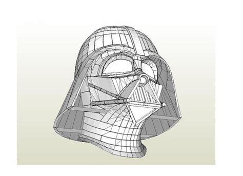 Darth Vader Mask Papercraft - darth vader helmet wars 1 1 scale size diy
