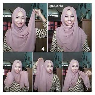 gambar tutorial jilbab pashmina syar i cara memakai jilbab pashmina tetap bersyariat kumpulan
