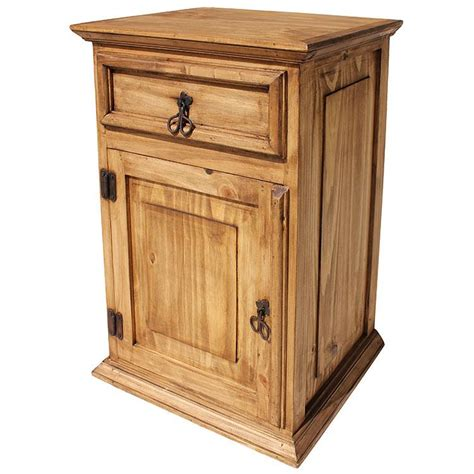 Rustic Pine Nightstand Rustic Pine Collection Liso Nightstand