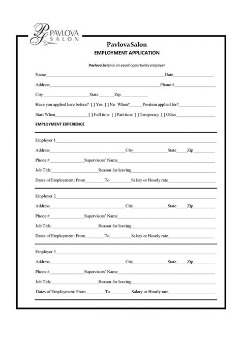 Salon Resume Exle by Nail Salon Employment Application Nail Ftempo