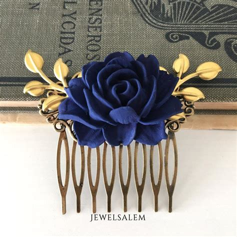 wedding hair accessories blue wedding hair comb bridesmaids hair accessories navy blue