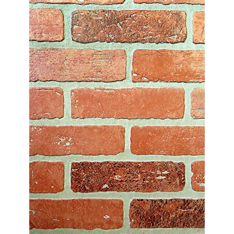 home depot decorative bricks 1 4 in x 48 in x 96 in kingston brick hardboard wall