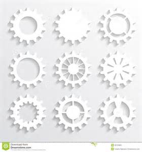 How To Make Paper Gears - paper gears royalty free stock images image 36703829