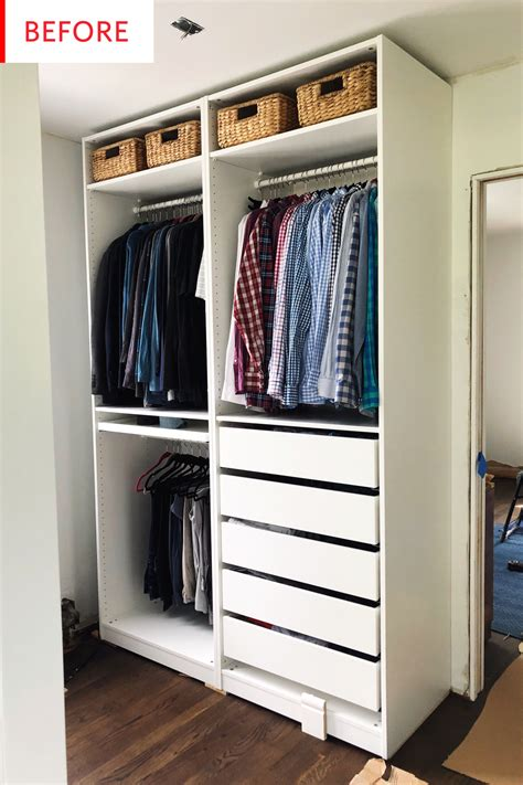 Wardrobe Storage Ikea - smart ikea pax closet hack before and after photos