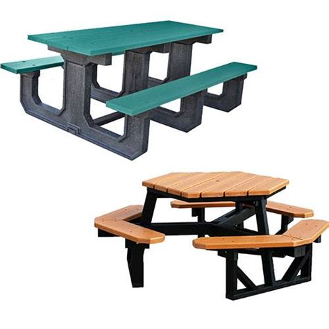 plastic picnic tables recycled plastic picnic tables jayhawk plastic tables