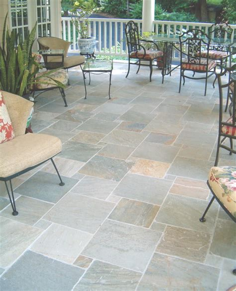 porch floor tile traditional patio raleigh  neuse tile service