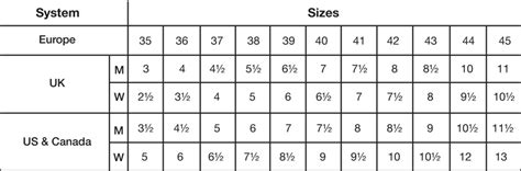 nigerian shoe size chart south african clothes size conversion chart size guide